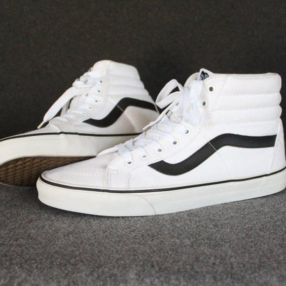 Vans Sk8 Hi Reissue True White Black Canvas, High